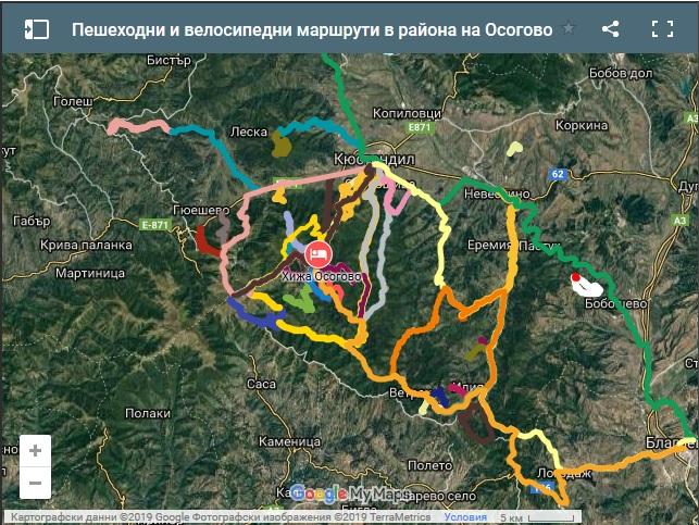 Interaktivna Karta Ni Pokazva Peshehodnite I Velomarshruti V Osogovo