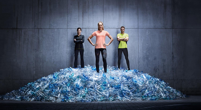 спортна колекция от рециклирана пластмаса