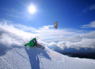 Сноукайтинг - Chastagnol Guillaume riding on the Etna