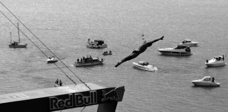 Athlete: Artem Silchenko / Event: Red Bull Cliff Diving World Series 2010 Sisikon / photocredit: Romina Amato
