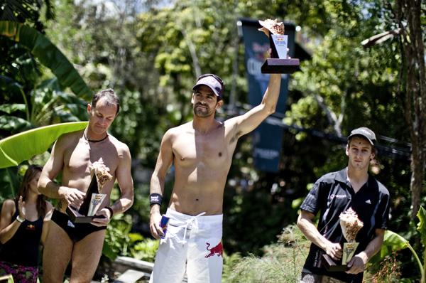 Slava Polyeshchuk, Orlando Duque, Gary Hunt - Winning / Photocredit: Dean Treml