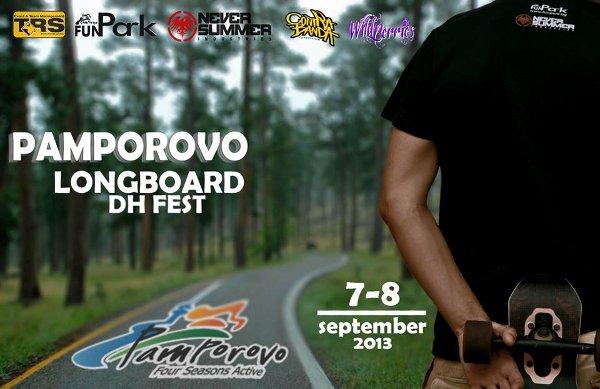 Първото лонгборд даунхил състезание в Пампорово