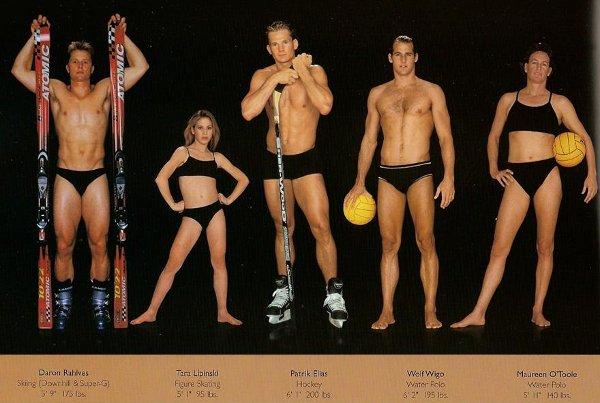 Как изглеждат телата на най-добрите спортисти в света