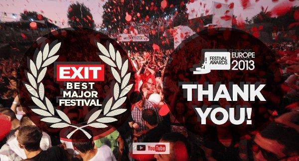"""EXIT взе наградата за """"Най-добър европейски фестивал"""""""