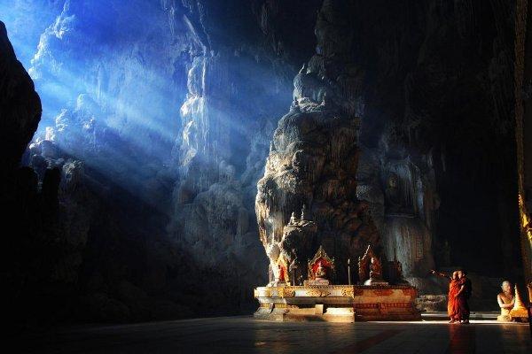 Пещерата Kyaut Sae, Мианмар