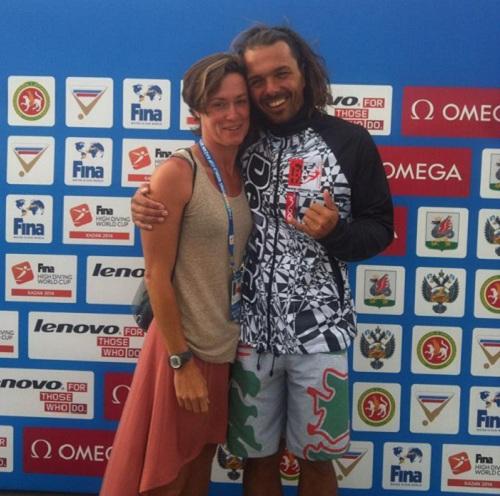 Тодор Спасов със сребърната медалистка Ginger Huber.