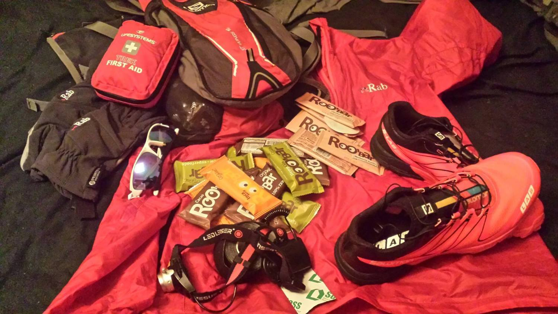 Екипировката на Краси за 48-часовото тичане