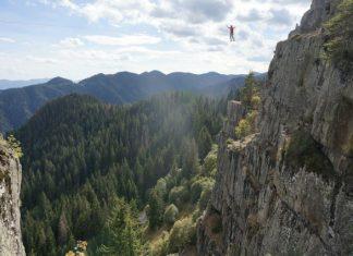 """""""АЕТОС"""" 45 м дължина, 40 м височина, Червената скала край Смолян"""