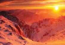 Изгрев от връх Мусала