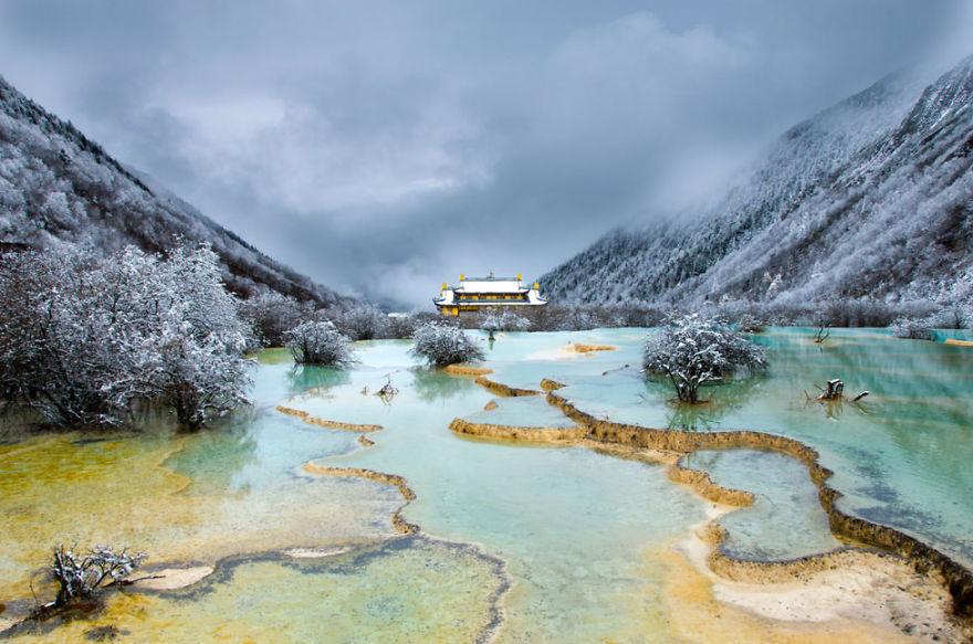Huanglong, провинция Съчуан, Китай