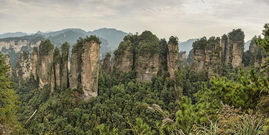 Върхът с пет пръста на Huangshizhai, Китай