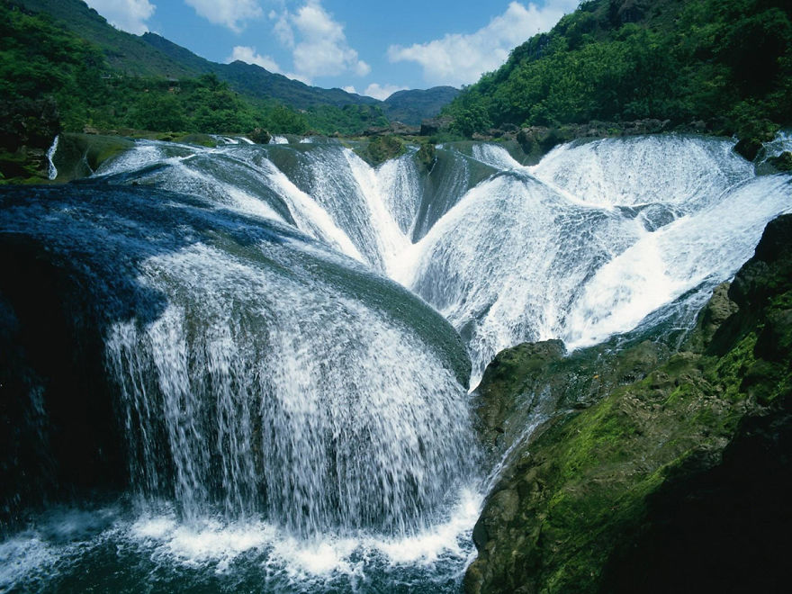 Водопадът Yinlianzhuitan, Китай