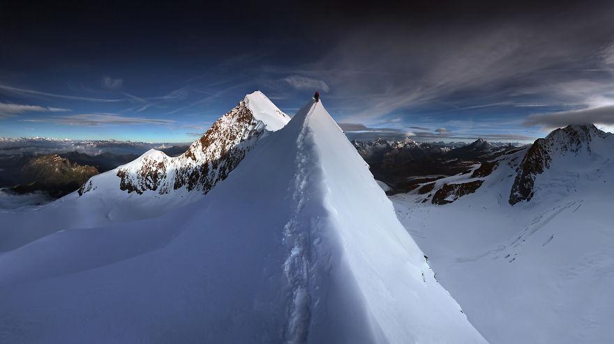 Билото на Lyskamm, Алпи