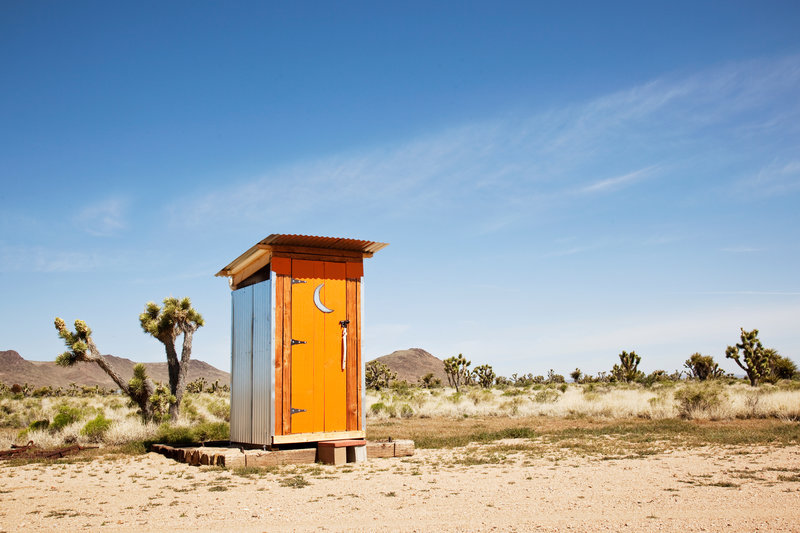 Outhouse in the desert