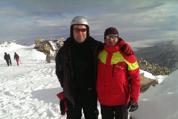 Строг и взискателен учител: Алън и Иван. Снимка: Mirror