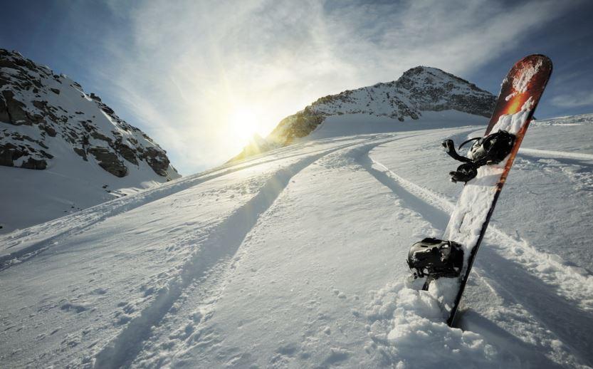 Сноуборд, зима, сняг, зима, планина