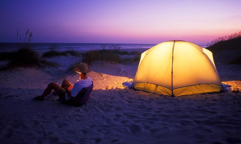 Къмпинг на плажа