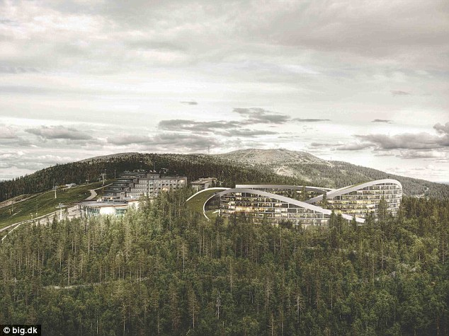Писта на покрива; Финландия; Курорт