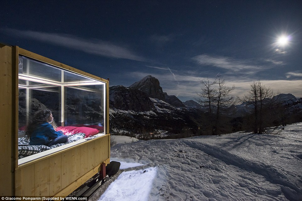 Кабина върху ски вместо каравана