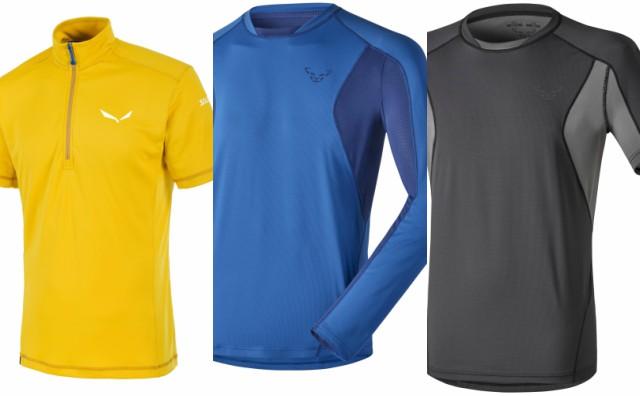 Тениска SALEWA AGNER PTC M; тениска DYNAFIT TRAIL 2 с дълъг и с къс ръкав