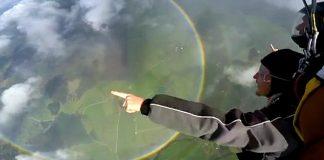 С парашут под дъгата