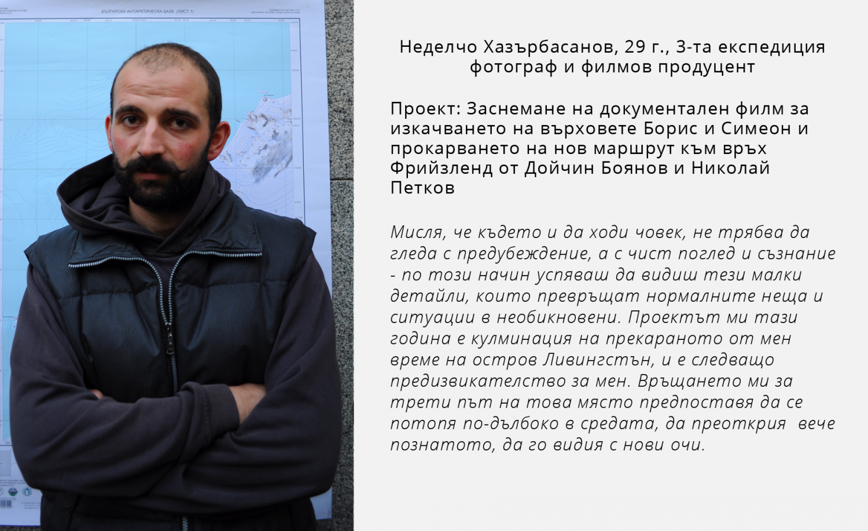 Неделчо Хазърбасанов антарктик