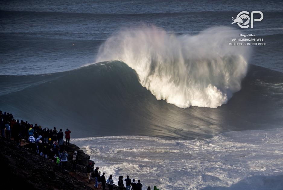 Поглед към Вълните в Назаре
