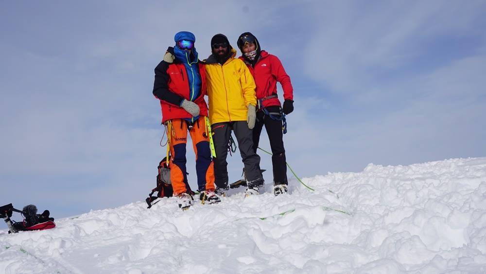 Николай Петков, Дойчин Боянов и Неделчо Хазърбасанов на връх Лясковец