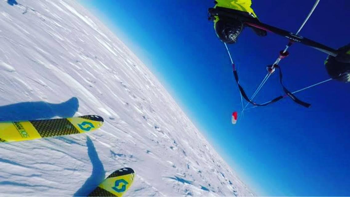 Майк Хорн Антарктида Pole2Pole кайт