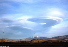 Облаци рисуват извънземни пейзажи от Япония до Аляска