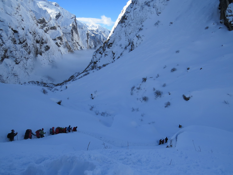 Базов лагер Мачапучаре (3700м), Непал снимка: Ира Кюрпанова