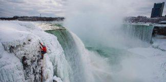 Ледено катерене, Ниагарски водопад