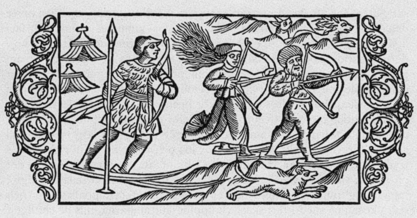 "Илюстрация в книгата на Олас Магнус ""Historia de Gentibus Septentrionalibus"" (История на северните народи), публикувана в Рим през 1555."
