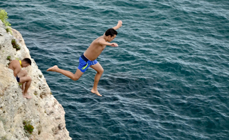 Съвети за скачане от скали