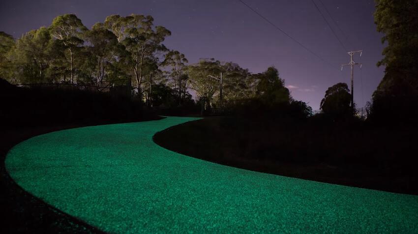 Светеща велоалея, Госфорф, Австралия