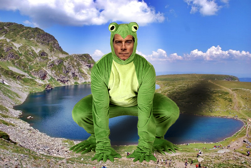Беър Грилс и жабите