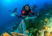 подводен рекорд за почистване