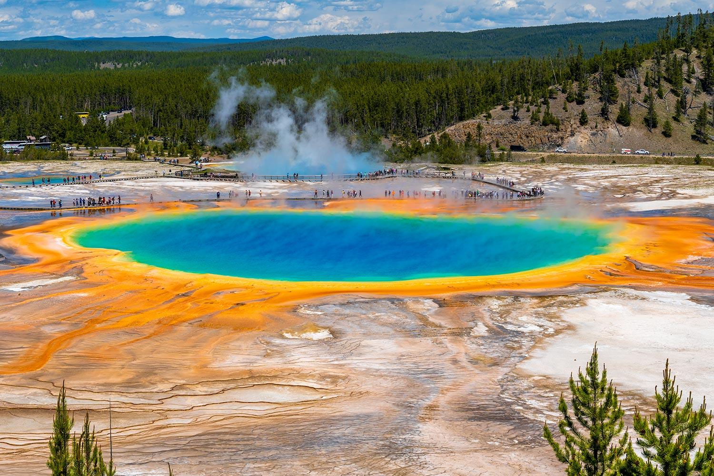 Кадър: Grand Prismatic Spring Yellowstone