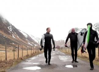 арктически сърфисти Лофотен