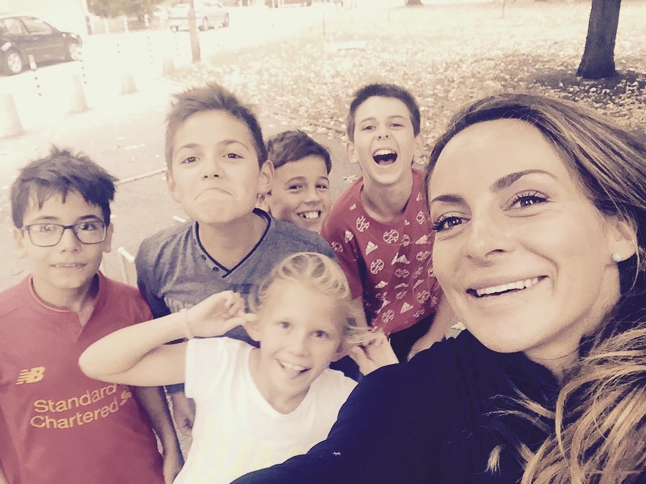 Сани Жекова с деца